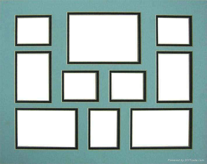 Multi Window Paper Frame Acid Free Mat Board Home Decorative Picture