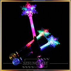 Colorful snowflake glow stick