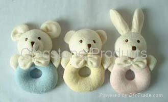 Baby Towel Animal Rattle 1
