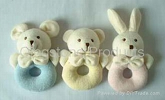 Baby Towel Animal Rattle