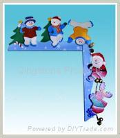 Wooden door frame decoration for Christmas 2