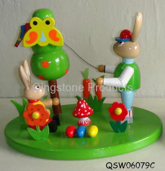 Children wooden decorations