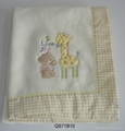 Children Fleece Blanket with Embroidery