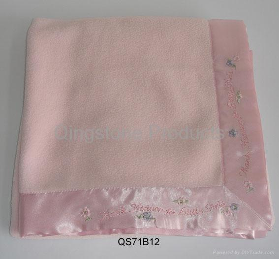 Children Fleece Blanket with Embroidery Picture 2