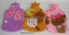 Plush Cover with Rubber Hot Water Bag