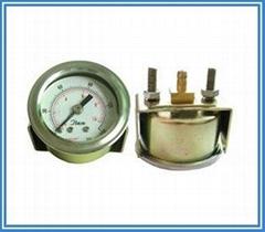 40MM轴向彩鏱插管带支架空压机专用气压表
