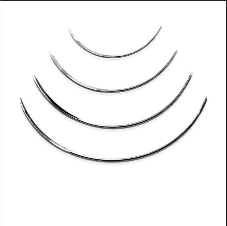 弱彎縫針 1