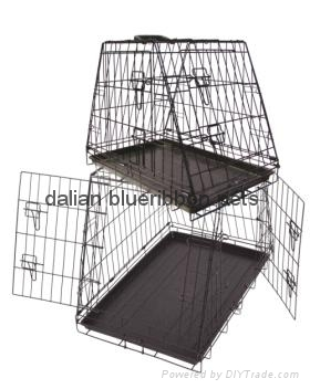 dog cages with plastic tray(E-Coating) 1