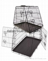 dog cages with plastic tray(E-Coating)