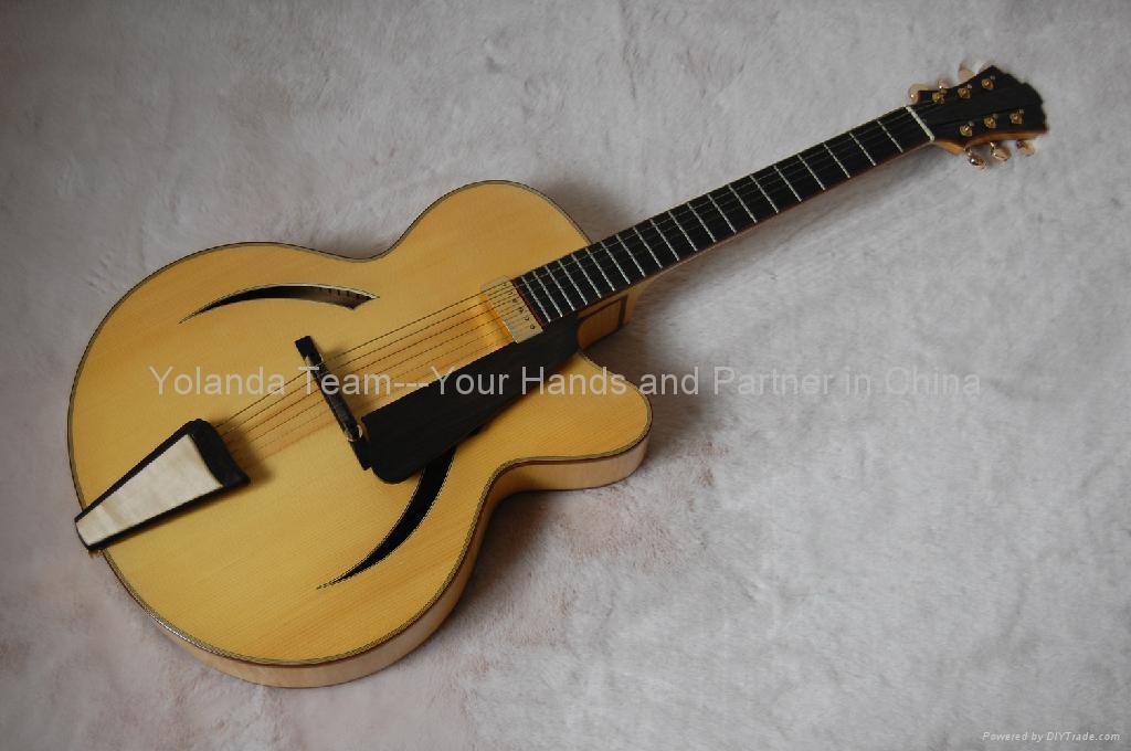 Handmade Acoustic Jazz Guitar Yl 14n02 Hotman China