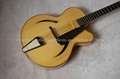 Handmade acoustic jazz guitar