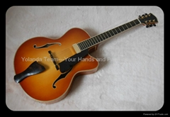 Handmade electric jazz guitar