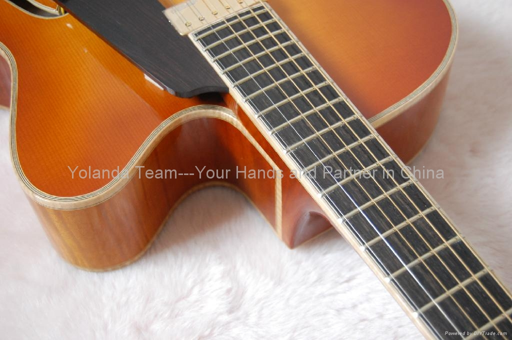 Handmade electric jazz guitar 4