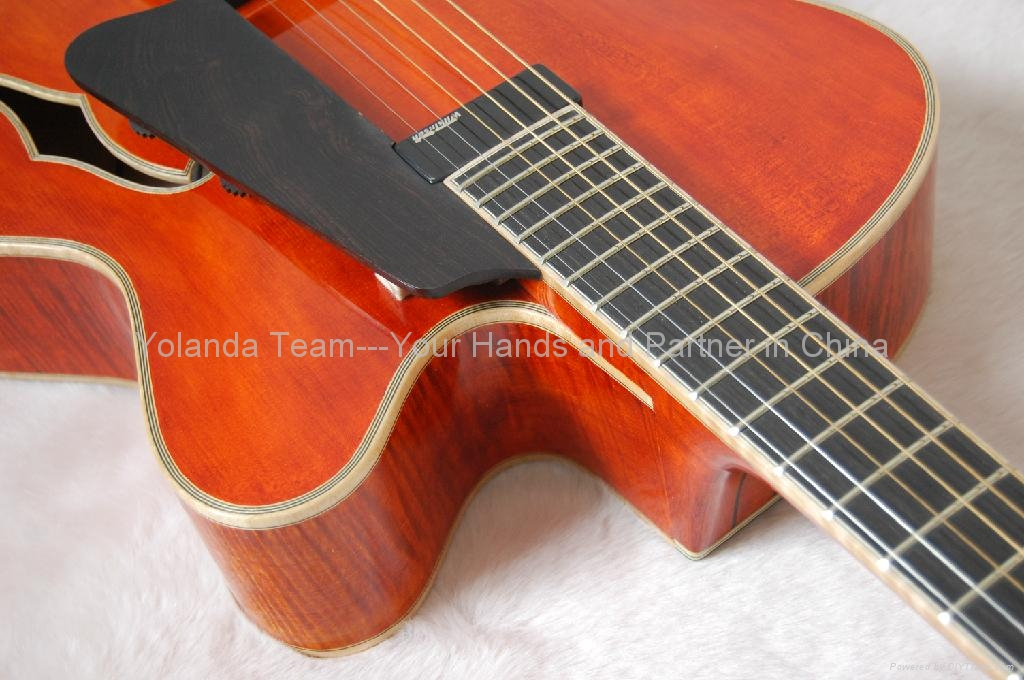 Handmade electric jazz guitar with sideport 4