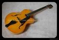 Handmade electric jazz guitar with