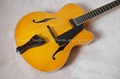 Handmade electric jazz guitar with sideport