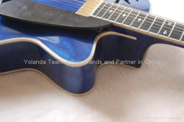 16inch handmade jazz guitar carved with solid wood 4