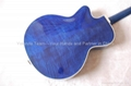 17inch handmade jazz guitar carved with solid wood