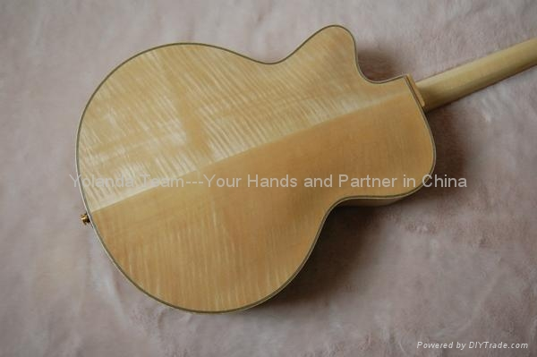 14inch handmade jazz guitar carved with solid wood 5