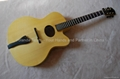 15inch handmade jazz guitar carved with solid wood