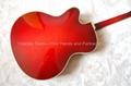 15inch Handmade jazz guitar in red sunburst color 4
