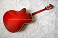 17inch Handmade jazz guitar in red sunburst color 2