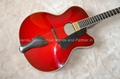 17inch Handmade jazz guitar in red sunburst color 3