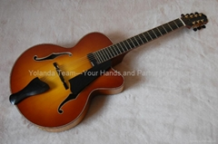 15inch 7 strings handmade jazz guitar