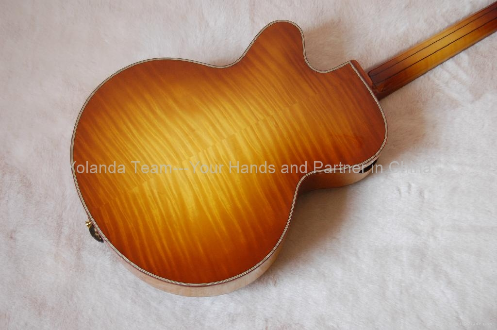 17inch 7 strings handmade jazz guitar 5
