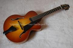 18inch 7 strings handmade jazz guitar