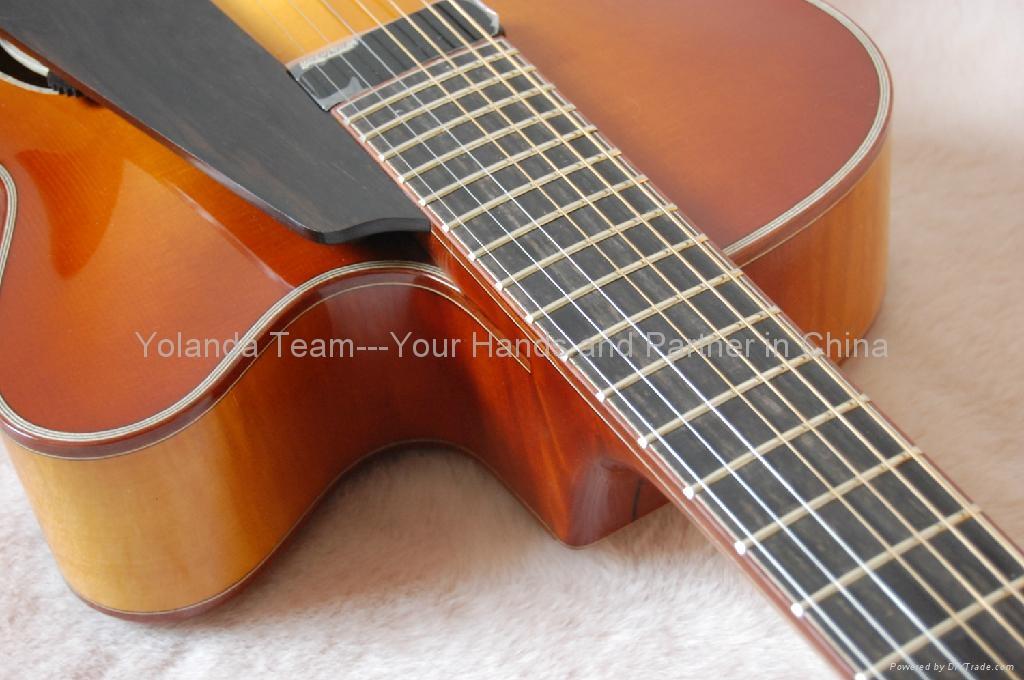 18inch 7 strings handmade jazz guitar arch 720 hotman china manufacturer musical. Black Bedroom Furniture Sets. Home Design Ideas