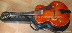 14寸圆角手工爵士吉他