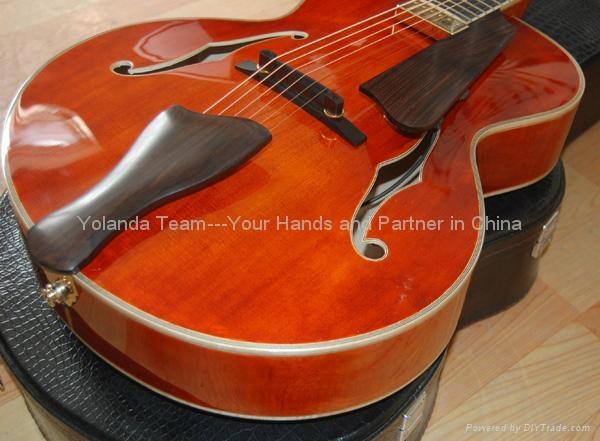 14寸圆角手工爵士吉他 3