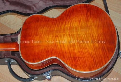 14寸圆角手工爵士吉他 4