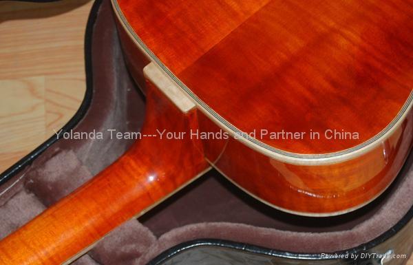 14寸圆角手工爵士吉他 5
