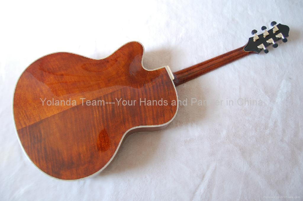 14寸缺角手工爵士吉他 2