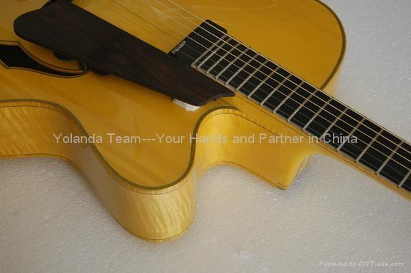 14寸缺角手工爵士吉他 4