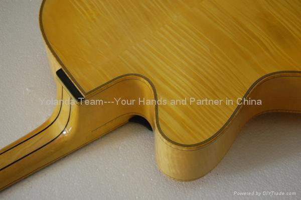 14寸缺角手工爵士吉他 5