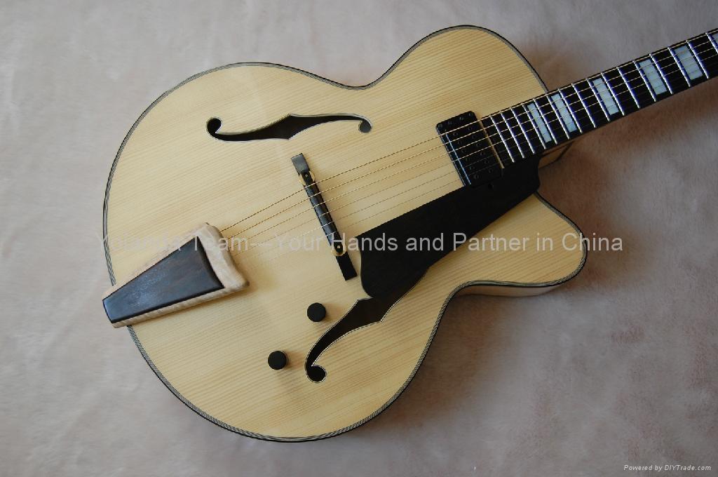 14寸缺角手工爵士吉他 3