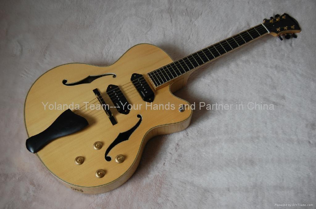 14寸缺角手工爵士吉他 1