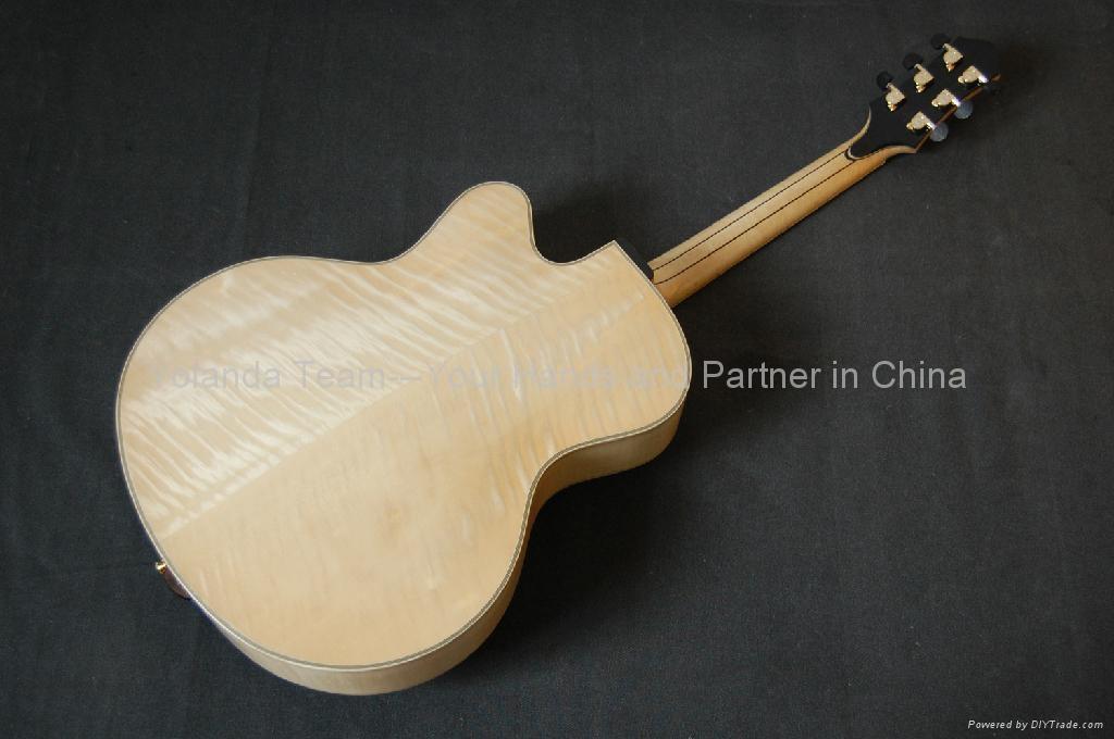 15寸缺角手工爵士吉他 2