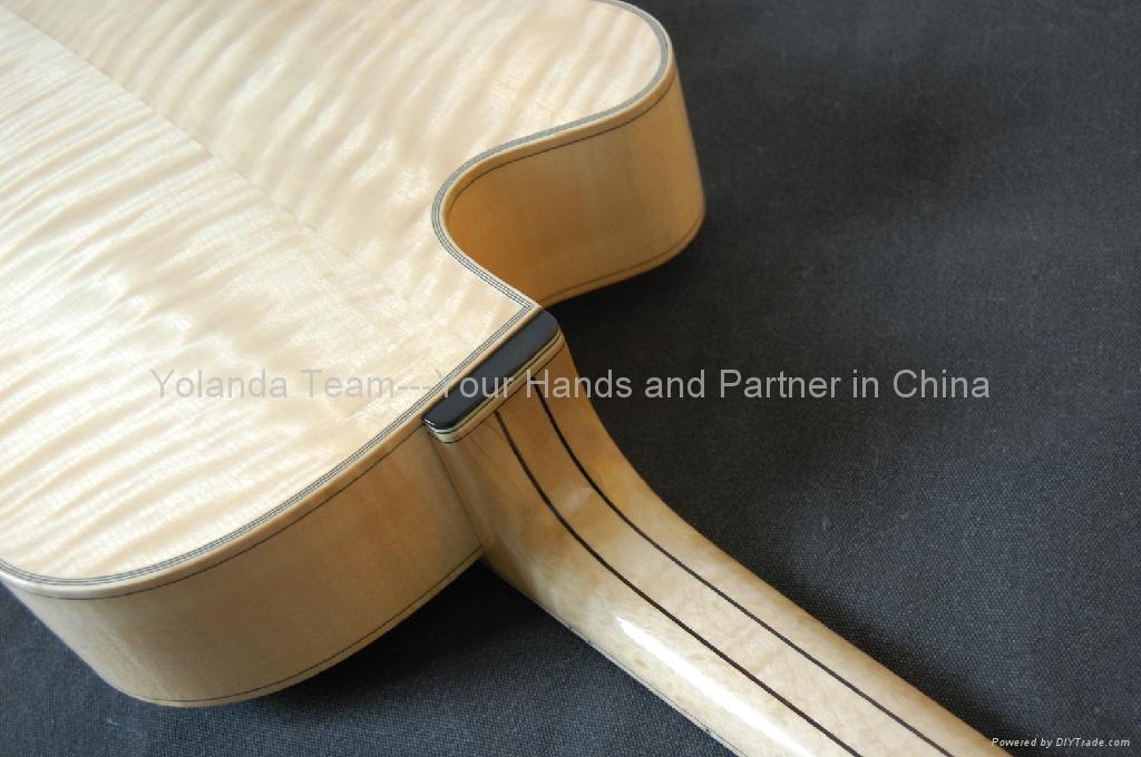 15寸缺角手工爵士吉他 3