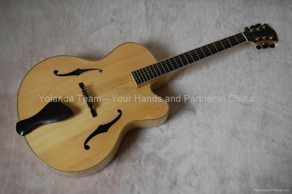 15寸缺角手工爵士吉他 1