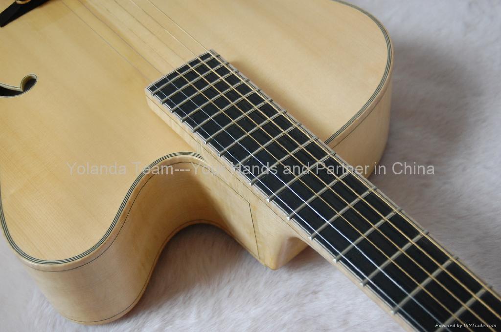 15inch cutaway Handmade jazz guitar 5