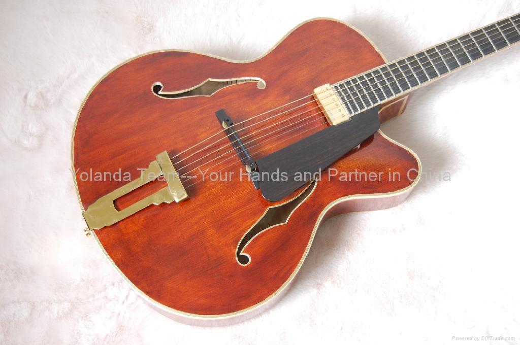 15inch cutaway Handmade jazz guitar 3