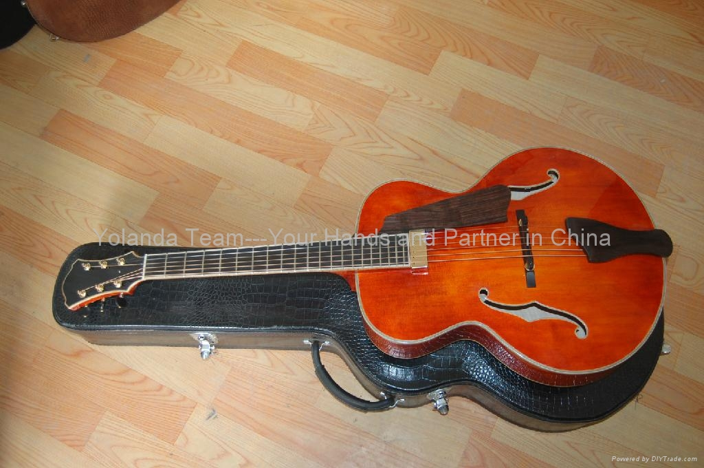 15寸圆角手工爵士吉他 1