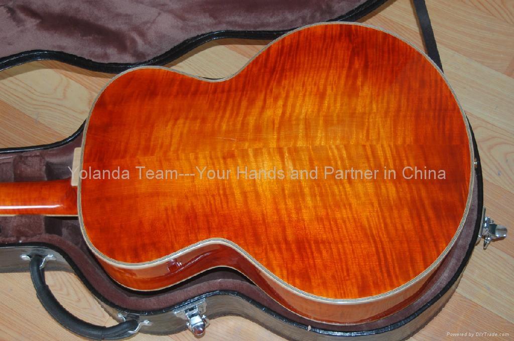 15寸圆角手工爵士吉他 4