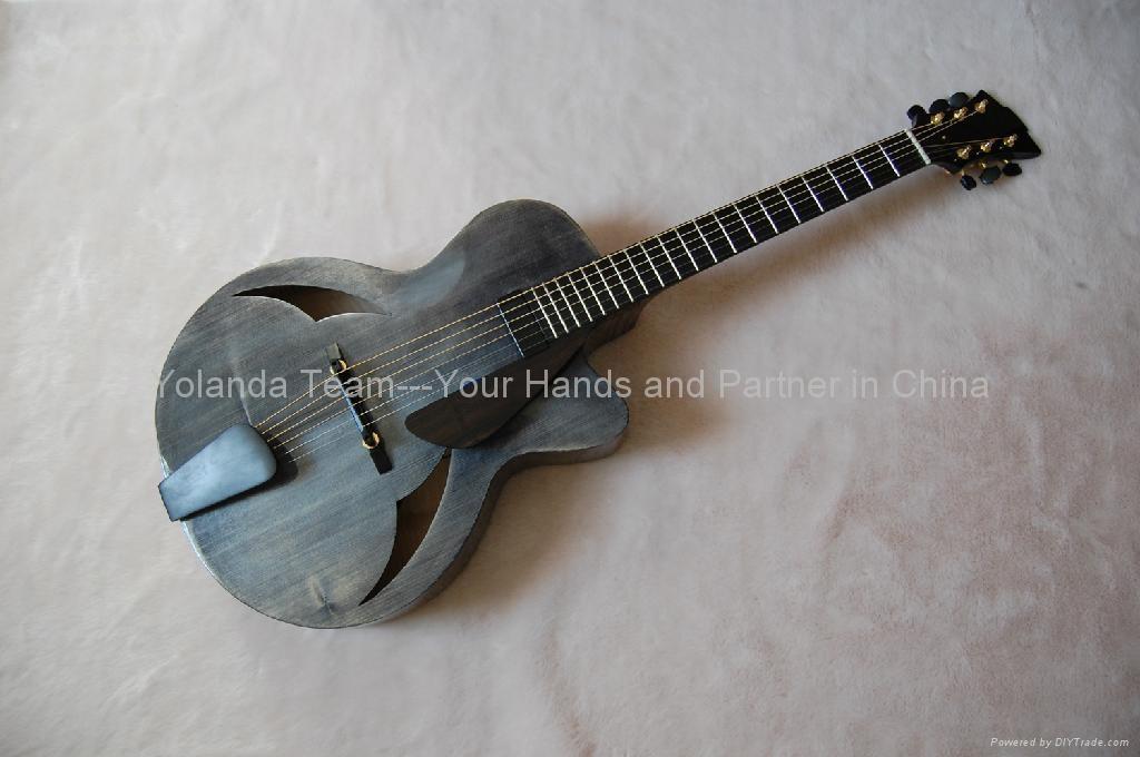 16寸缺角手工爵士吉他 1