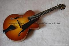 14inch 7 strings handmade jazz guitar