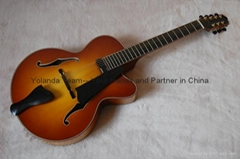14inch 7 strings handmade jazz guitar